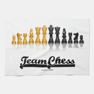 Ajedrez del equipo juego de ajedrez reflexivo toallas