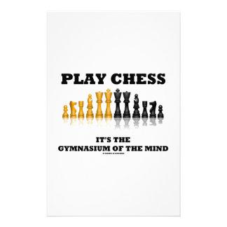 Ajedrez del juego es el gimnasio de la mente personalized stationery