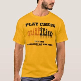 Ajedrez del juego es el gimnasio de la mente playera