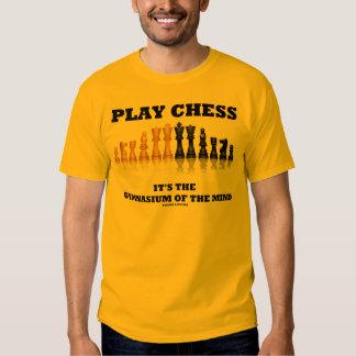 Ajedrez del juego es el gimnasio de la mente poleras