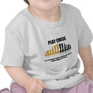 Ajedrez del juego es el único juego donde uno pued camiseta
