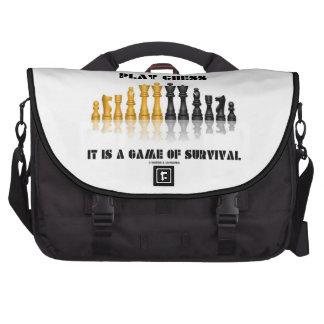 Ajedrez del juego es un juego de la supervivencia bolsas para ordenador
