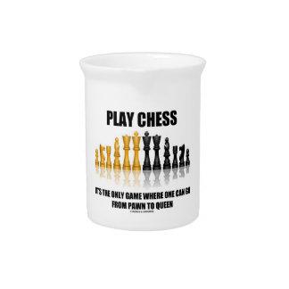Ajedrez del juego está el único juego donde empeño jarra para bebida