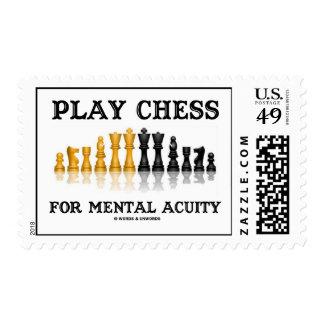 Ajedrez del juego para la acuidad mental (ajedrez  sello