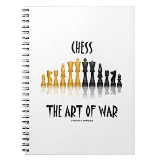 Ajedrez el arte de la guerra (fuente de Matisse) Libros De Apuntes Con Espiral