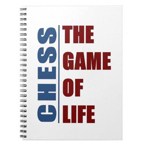 Ajedrez el juego de la vida spiral notebook