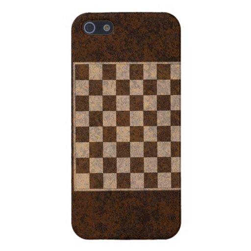 Ajedrez, inspectores, iPhone de madera 5 del table iPhone 5 Cobertura