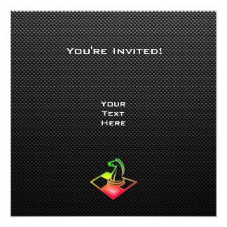Ajedrez liso invitación personalizada