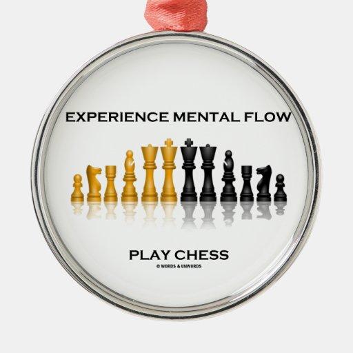 Ajedrez mental del juego del flujo de la experienc ornamentos de navidad