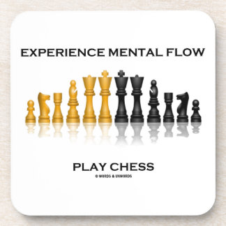 Ajedrez mental del juego del flujo de la posavaso