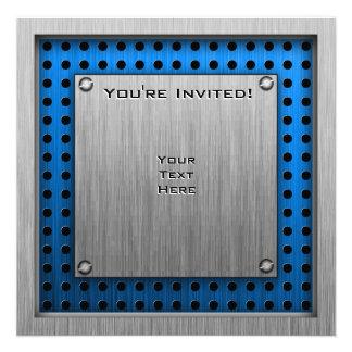 Ajedrez Metal-mirada cepillada Invitacion Personal