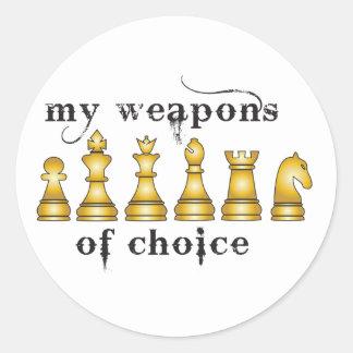 ajedrez, mi arma de la opción etiqueta redonda