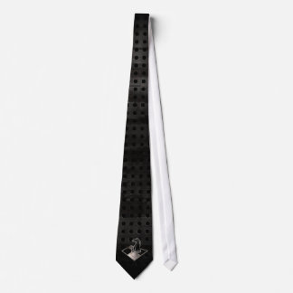 Ajedrez; Negro fresco Corbatas Personalizadas