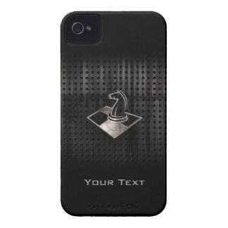Ajedrez; Negro fresco Case-Mate iPhone 4 Cárcasas