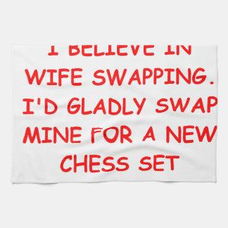 ajedrez toalla de mano