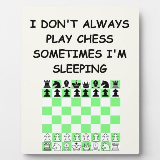 ajedrez placas con fotos