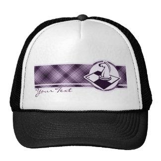 Ajedrez púrpura gorro de camionero