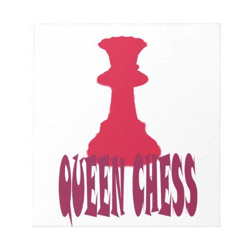 Ajedrez rojo de la reina blocs