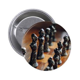 Ajedrez temático, pieza de ajedrez antigua del pin redondo 5 cm