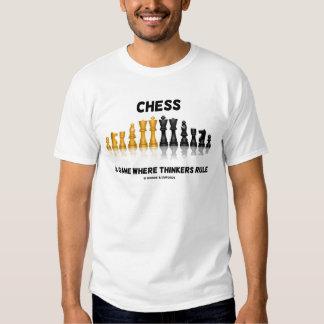 Ajedrez un juego donde los pensadores gobiernan camisas