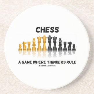 Ajedrez un juego donde los pensadores gobiernan e posavaso para bebida