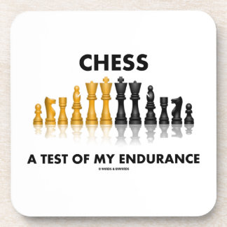 Ajedrez una prueba de mi juego de ajedrez posavaso