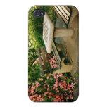 Ajedrez y rosas iPhone 4 funda