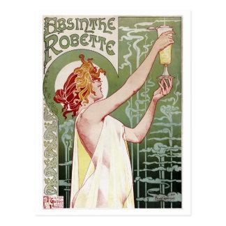 Ajenjo 1895 del vintage Robette Tarjetas Postales