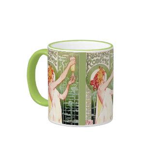 Ajenjo de hadas verde taza de dos colores