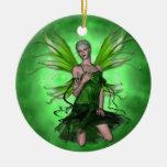 Ajenjo del KRW el ornamento verde de la fantasía d Adornos De Navidad