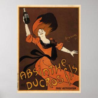 Ajenjo Ducros Fils de Leonetto Cappiello Poster