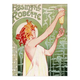 Ajenjo Robette - anuncio del francés del vintage Postal