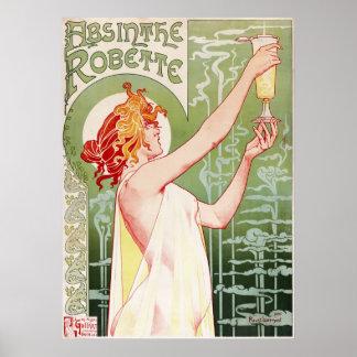 Ajenjo Robette - poster francés del anuncio del vi