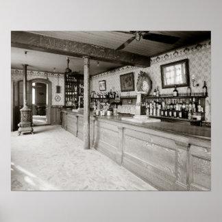 Ajenjo Room, 1906 de New Orleans. Foto del vintage Póster