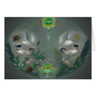 Ajenjo Tarjeta de felicitación del anís y de la