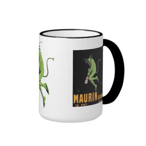 Ajenjo verde del diablo de Maurin Quina Taza A Dos Colores