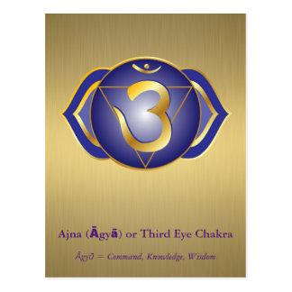Ajna (Āgyā) or Third Eye Chakra Postcard