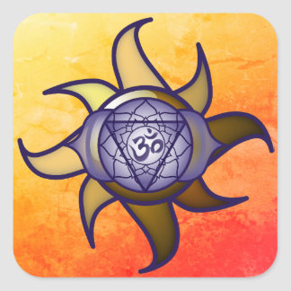 "Ajna Chakra ""Third Eye"" Yoga Insight Lotus Sticker"
