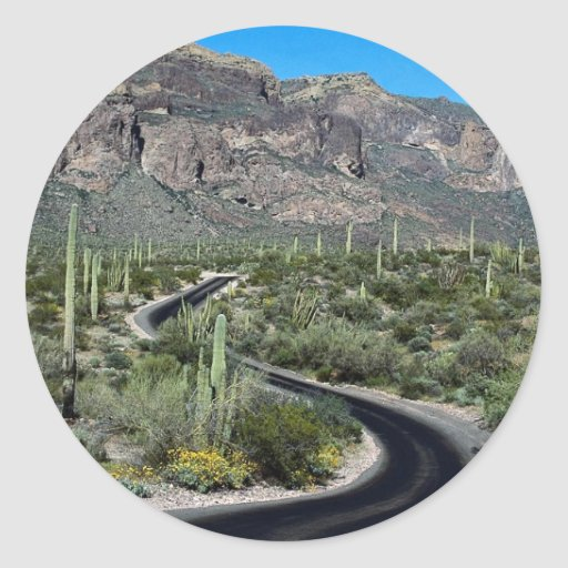 Ajo Mountains, Organ Pipe Cactus National Monument Sticker