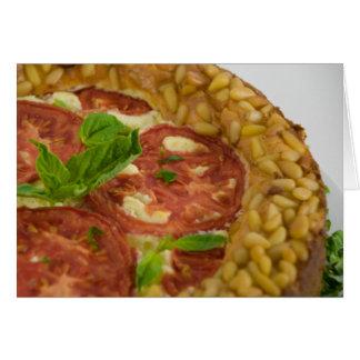 Ajo y pastel de queso asados de Pesto Tarjeta De Felicitación