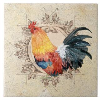 AJR-PAPER-Black-Vintage-Rooster-1b.jpg Azulejo Cuadrado Grande