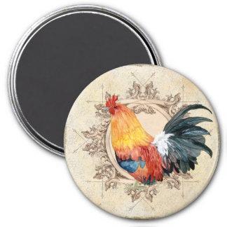AJR-PAPER-Black-Vintage-Rooster-1b.jpg 3 Inch Round Magnet