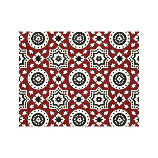 Ajrak Tribal Pattern Canvas