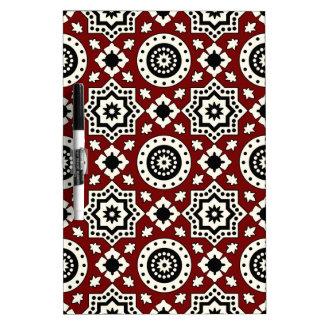 Ajrak Tribal Pattern  Pen Dry Erase Board