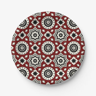 Ajrak Tribal  Pattern Plate
