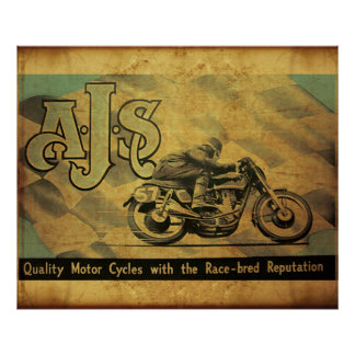AJS Motorcycle of England Print