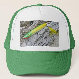 "AJS Popper ""Green Greenie"" Saltwater Fishing Lure Trucker Hat"