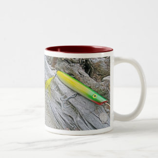 "AJS Popper ""Green Greenie"" Saltwater Fishing Lure Two-Tone Coffee Mug"