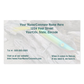 """AJS Popper """"Water Dragon"""" Saltwater Fishing Lure Business Card Templates"""