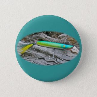 "AJS Popper ""Water Dragon"" Saltwater Fishing Lure Pinback Button"